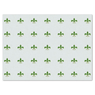 light Background with Green Fleur de Lis Tissue Paper