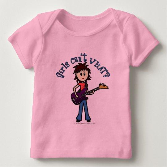 Light Bass Guitar Girl Baby T-Shirt
