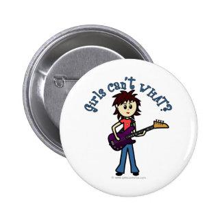 Light Bass Guitar Girl Pin
