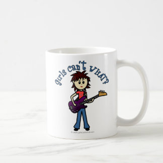 Light Bass Guitar Girl Coffee Mug