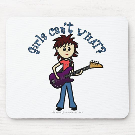 Light Bass Guitar Girl Mouse Pad