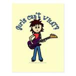 Light Bass Guitar Girl Postcard