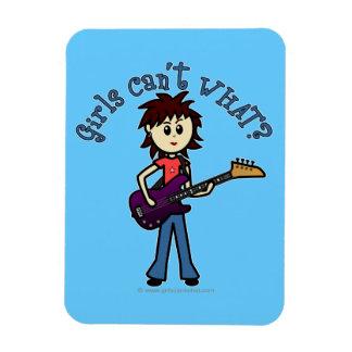 Light Bass Guitar Girl Rectangular Magnets