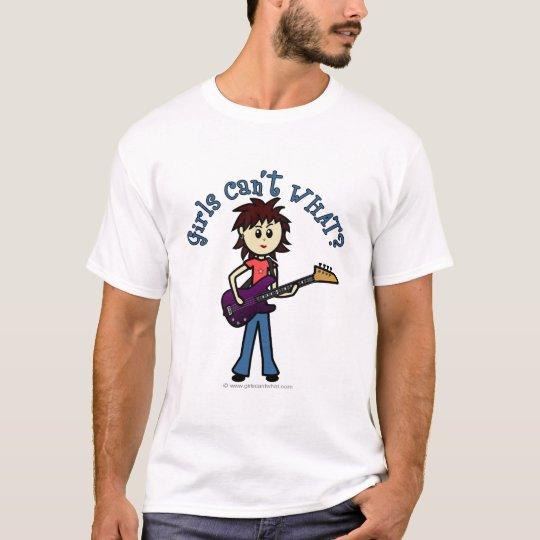 Light Bass Guitar Girl T-Shirt