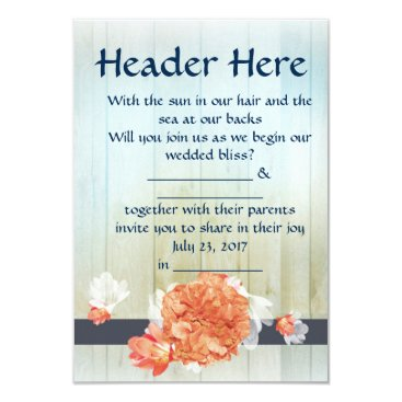 Light Beach Wedding Invitation