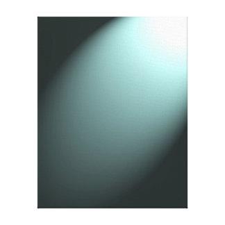 Light Beam on Deep Turquoise Blue Canvas Print