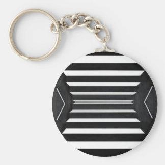 LIGHT Beams : BNW B&W BlackNwhite Spectrum Basic Round Button Keychain