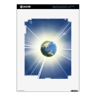 Light Beams from Earth 2 Skin For iPad 3