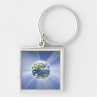 Light Beams from Earth Keychain