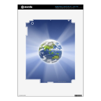 Light Beams from Earth Skins For iPad 3