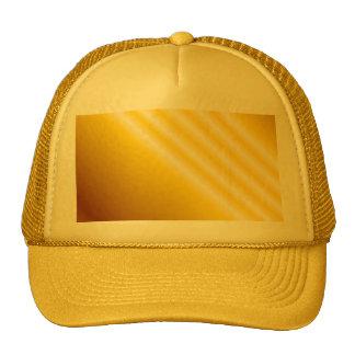 Light beams on yellow background trucker hat