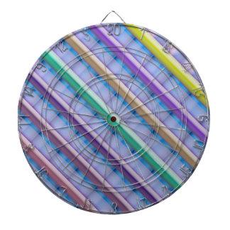 Light Beams  : Purple Blue Hue Colorful Spectrum Dart Board