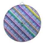 Light Beams  : Purple Blue Hue Colorful Spectrum Dartboards