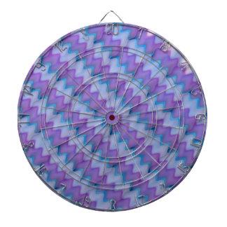 Light Beams  : Purple Blue Hue Colorful Spectrum Dartboard With Darts