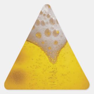 Light Beer Foam Triangle Sticker
