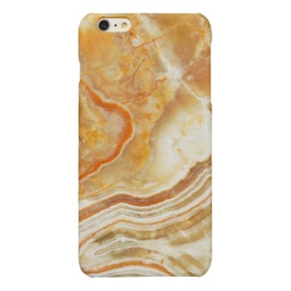 Light Beige Abstract Swirls Marble Print Glossy iPhone 6 Plus Case