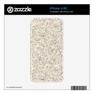 Light Beige Block Pattern Decal For iPhone 4