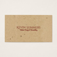 Light Beige Craft Paper Texture Business Card at Zazzle
