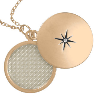 Light Beige Locket Necklace