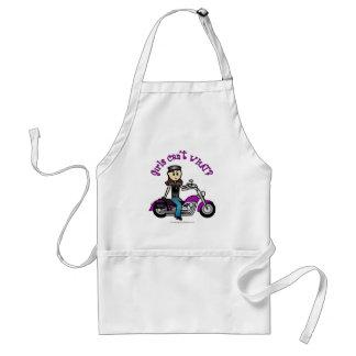 Light Biker Girl Adult Apron