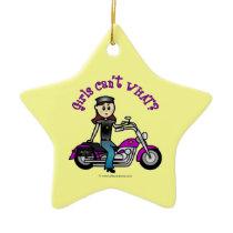 Light Biker Girl Christmas Tree Ornaments