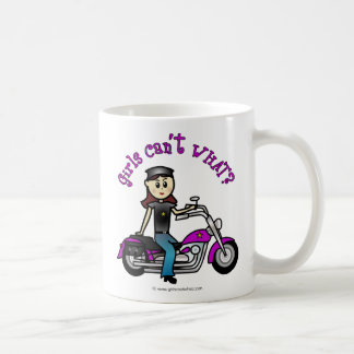 Light Biker Girl Coffee Mug