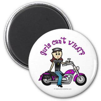 Light Biker Girl Magnets