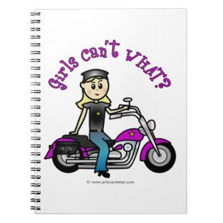 Light Biker Girl Notebook