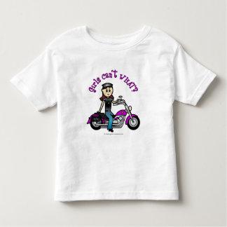 Light Biker Girl Toddler T-shirt