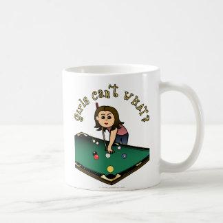 Light Billiards Girl Coffee Mug