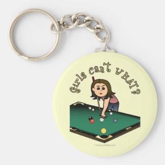 Light Billiards Girl Key Chain