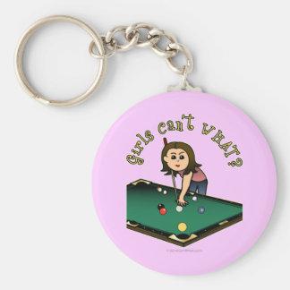 Light Billiards Girl Keychain