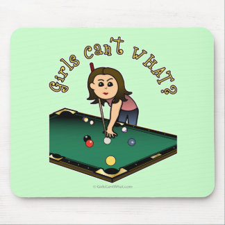 Light Billiards Girl Mouse Pad