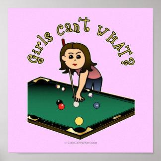 Light Billiards Girl Poster