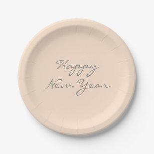 Light Bisque Happy New Year Event Template Paper Plate  sc 1 st  Zazzle & Pale Peach Color Plates   Zazzle