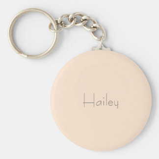 Light Bisque Personalized Keychain