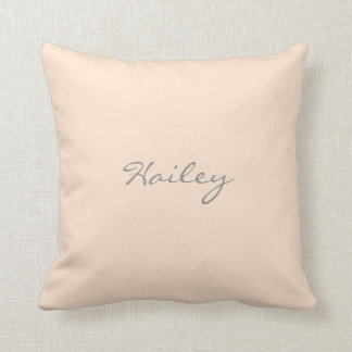 Light Bisque Personalized Throw Pillow