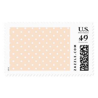 Light Bisque Polka Dot Postage Stamp