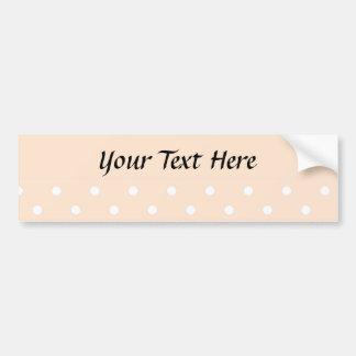Light Bisque Polka Dots Bumper Sticker