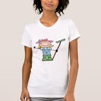 Light Blonde Gardener with Pink Hat Tshirts
