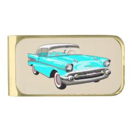 Light Blue 1957 Shoebox Money Clip