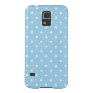 Light Blue 50s Style Polka Dot Galaxy S5 Case