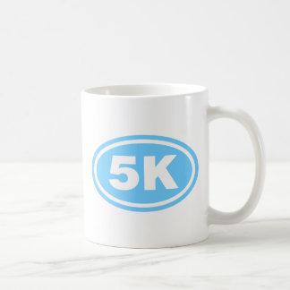 Light Blue 5 K Runner Oval Mug