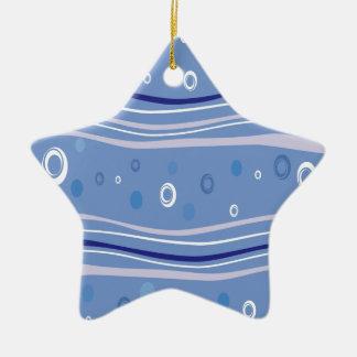 Light Blue Abstract Art Ceramic Ornament
