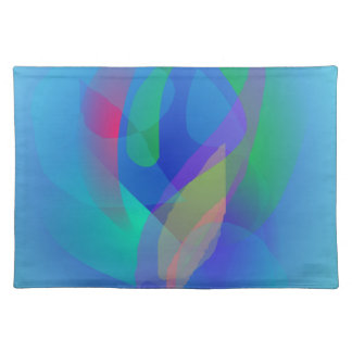 Light Blue Abstract Colors Cloth Place Mat