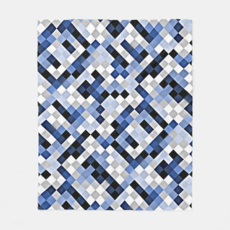 Light Blue Abstract Mosaic Pattern Fleece Blanket