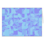 Light Blue Abstract Pattern Greeting Cards