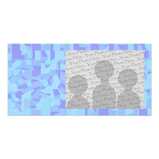 Light Blue Abstract Pattern Photo Card