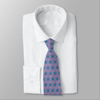 Light Blue Abstract Patterned Tie