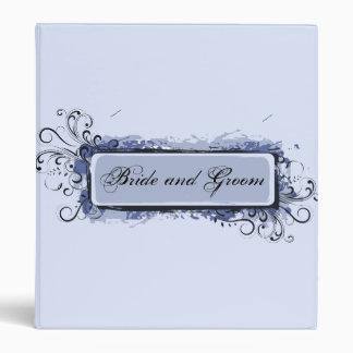 Light Blue Abstract Swirls Wedding Binder